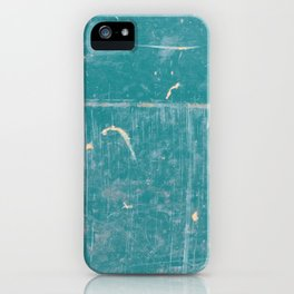 Canoe Texture Photography - Teal Scratched Texture iPhone Case