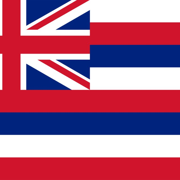 Hawaiian Flag, Official color & scale Comforters