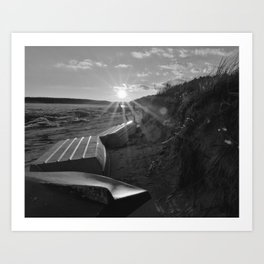 Wellfleet Landing In Winter Art Print