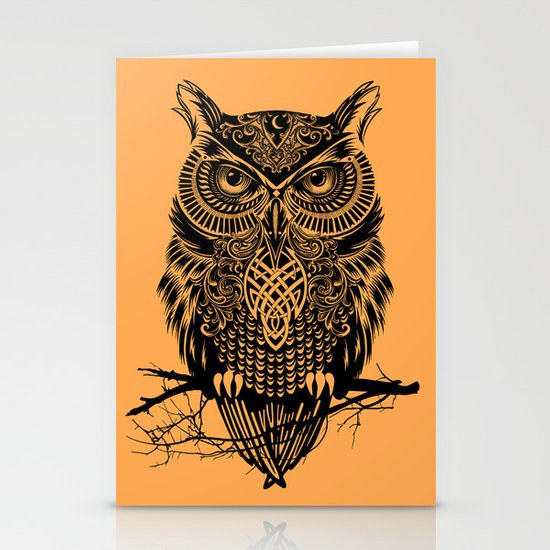 Warrior Owl 2 Stationery Cards
