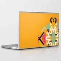 arabic Laptop & iPad Skins featuring Orange Arabic by Farah Saheb