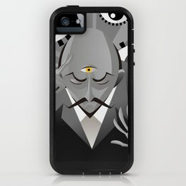 third eye mentalist with eyes background iPhone Case