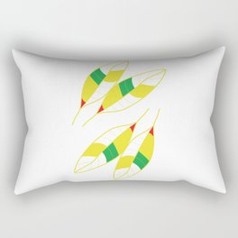 Nature Spring Leaves Rectangular Pillow