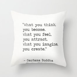 Buddha quote 5 Throw Pillow
