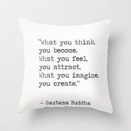 Buddha quote 5 Throw Pillow
