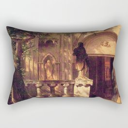 Sunlight And Shadow 1862 By Albert Bierstadt | Reproduction Painting Rectangular Pillow