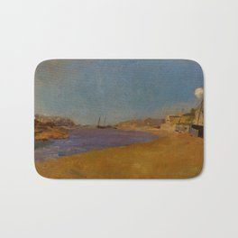 "Odilon Redon ""Fishing Village, Brittany"" Bath Mat"