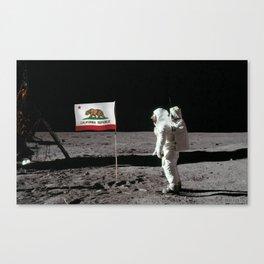 California Republic Flag on the Moon Canvas Print