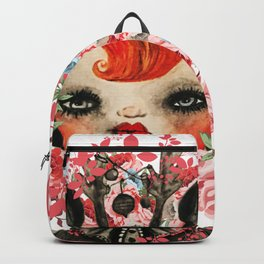 Deerlilah the Rose Lion Backpack