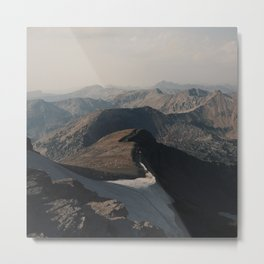 Mountain Layers in the Wyoming Wilderness Metal Print