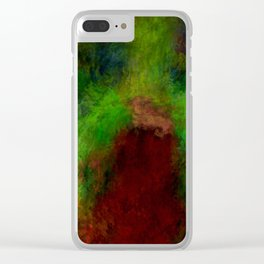 Wooded path abstract Clear iPhone Case