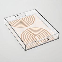 Rainbow lines Acrylic Tray