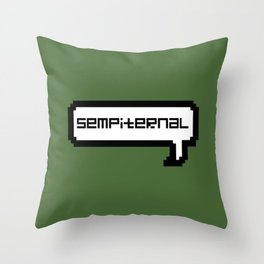 Sempiternal - Green Throw Pillow