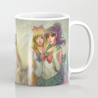 sailor moon Mugs featuring Sailor Moon by KATIE PAYNE