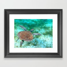 Come glide with me Framed Art Print