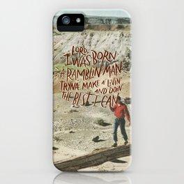 Ramblin' Man iPhone Case