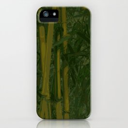 Bamboo jungle iPhone Case