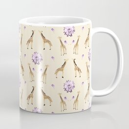 Giraffes And Flowers Coffee Mug