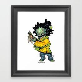 Z gang - Suga Flinn - Villains of G universe Framed Art Print