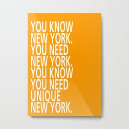 You know New York - Tongue Twisters Metal Print
