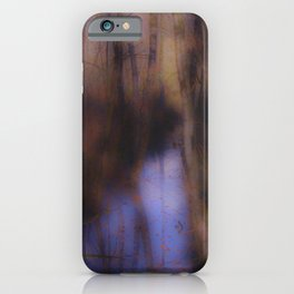 Creek in the autumn mist  iPhone Case