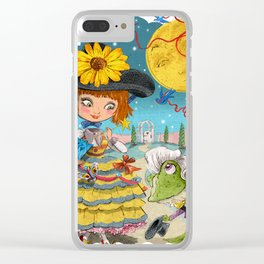 Froggy Went a Courting Clear iPhone Case