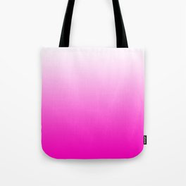 White and Pink Gradient 043 Tote Bag