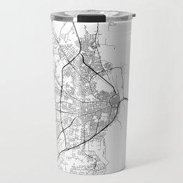 Minimal City Maps - Map Of Mobile, Alabama, United States Travel Mug