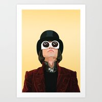 willy wonka Art Prints featuring Willy Wonka by Natalié Art&Living
