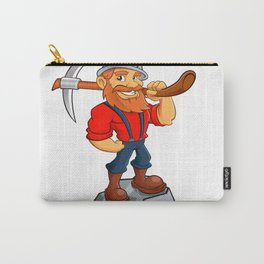 miner funny with pick.Prospector cartoon Carry-All Pouch