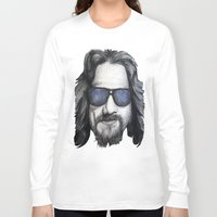lebowski Long Sleeve T-shirts featuring The Dude Lebowski by Black Neon