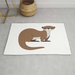 Cute Brown Otter Funny Rug