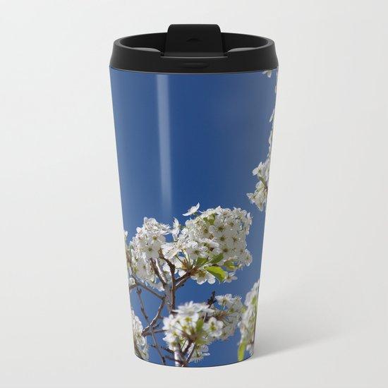 Spring Blossoms Metal Travel Mug