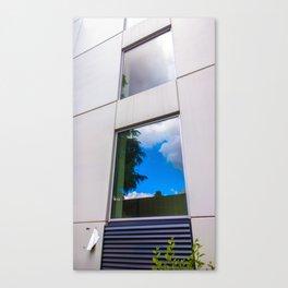La ventana azul* Canvas Print