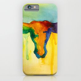 Colorful and Majestic Longhorn iPhone Case