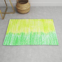 Kids Crayon Texture green colors Rug