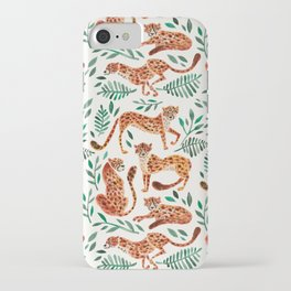 Cheetah Collection – Orange & Green Palette iPhone Case
