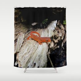 Red Newt Shower Curtain