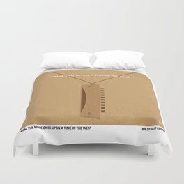 No059 My once upon a time in the west minimal movie poster Duvet Cover