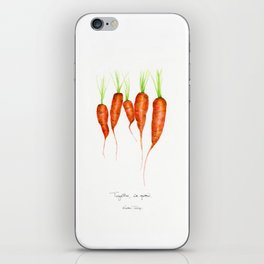 Carrots - Together we grow iPhone Skin