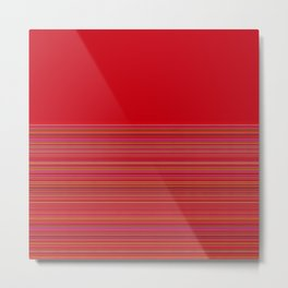 Re-Created  Color Field and Stripes 4 by Robert S. Lee Metal Print