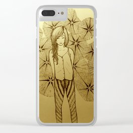 Mavis yellow Clear iPhone Case