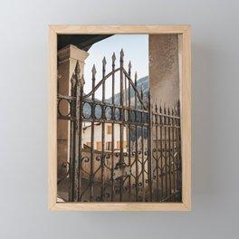 Church Gate of Italian Mountain Village | Italy travel art photography  Framed Mini Art Print