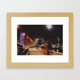 Night Stroll, London.  Framed Art Print