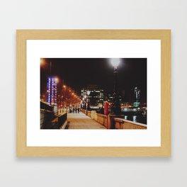 Night Stroll, London.  Framed Art Print