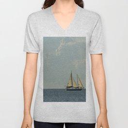 Full Sail on the High Seas Unisex V-Neck