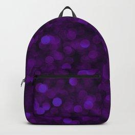 Purple Ultra Violet Glitter Bokeh Glam Pattern Backpack
