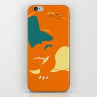 charizard iPhone & iPod Skins featuring Charizard by SEANLAR94