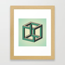 Impossible Cube Framed Art Print