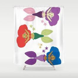 Three Little Mermaids Shower Curtain